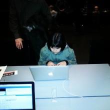 My daughter hacking