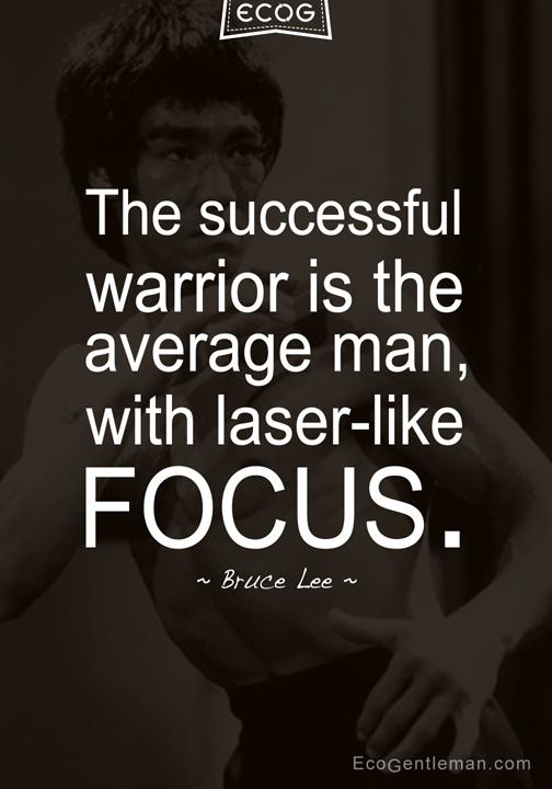 Bruce Lee Warrior Quote