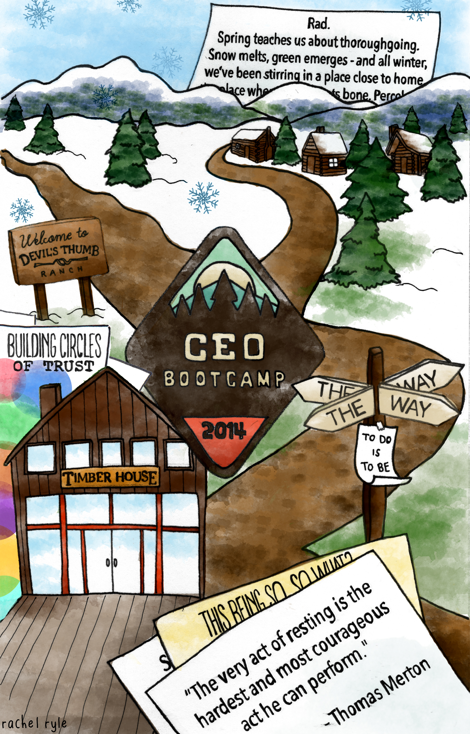CEO Bootcamp – Learnings and Illustration by Rachel
