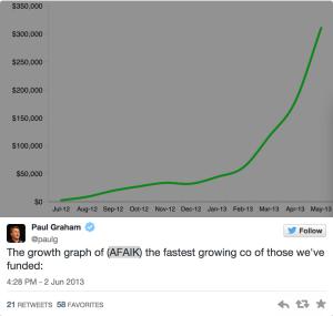 HomeJoy growth graph