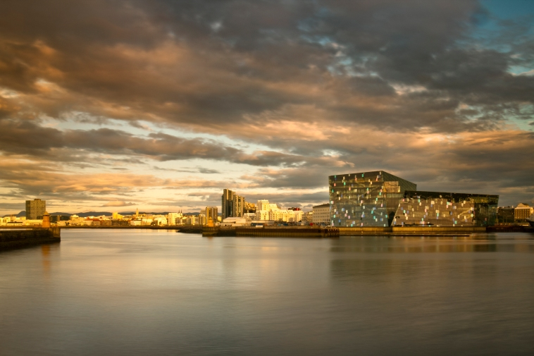 Harpa Concert Hall and Conference Centre in Reykjavik, Iceland, is designed by Henning Larsen Architects and Batteriid Archtects. Tha facade was developed by Henning Larsen Architects in collaboration with the artist Olafur Eliasson. Photo by Nic Lehoux *** EDITORIAL USE ONLY ***